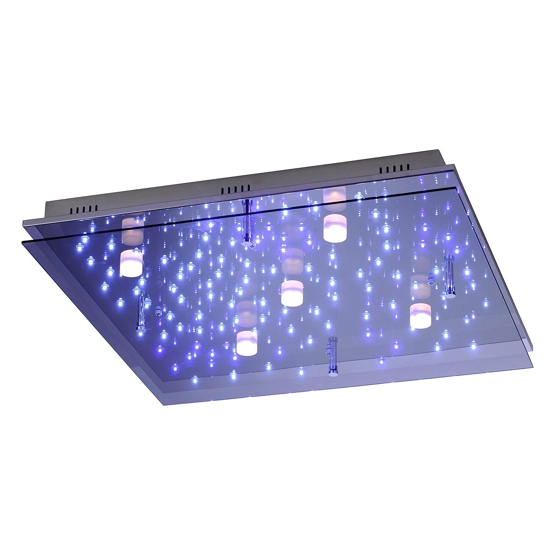 energie  A++, Plafondlamp Nightsky 2- ijzer - zilverkleurig 105 lichtbronnen, Paul Neuhaus