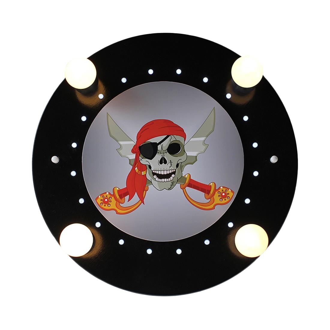 energie  A+_ Plafondlamp Piratenhoofd 4 20   hout 4 lichtbronnen_ Elobra