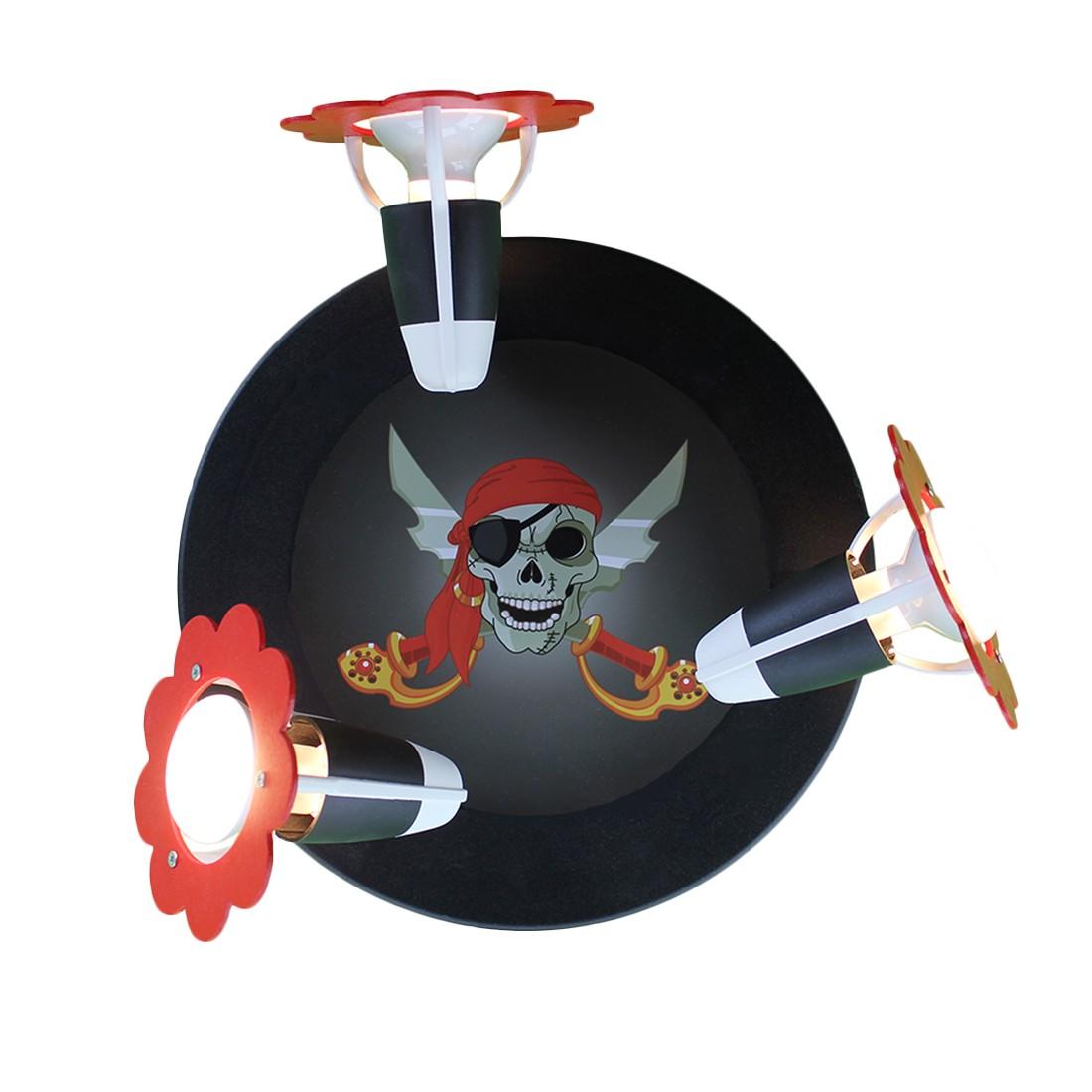 energie  A++, Plafondlamp Piratenhoofd - hout 3 lichtbronnen, Elobra