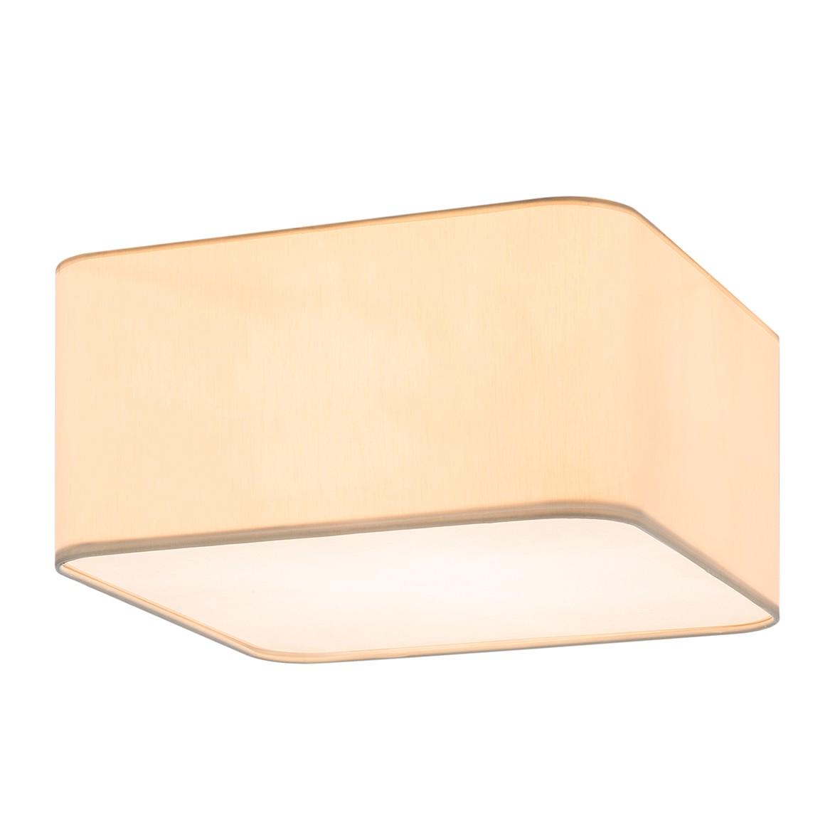 energie  A++, Plafondlamp Plafon - 40x40cm crèmekleurig 3 lichtbronnen, City Licht