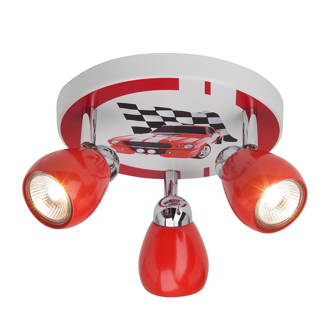 EEK A++, Deckenleuchte Racing - Metall - Multicolor - 3-flammig, Brilliant
