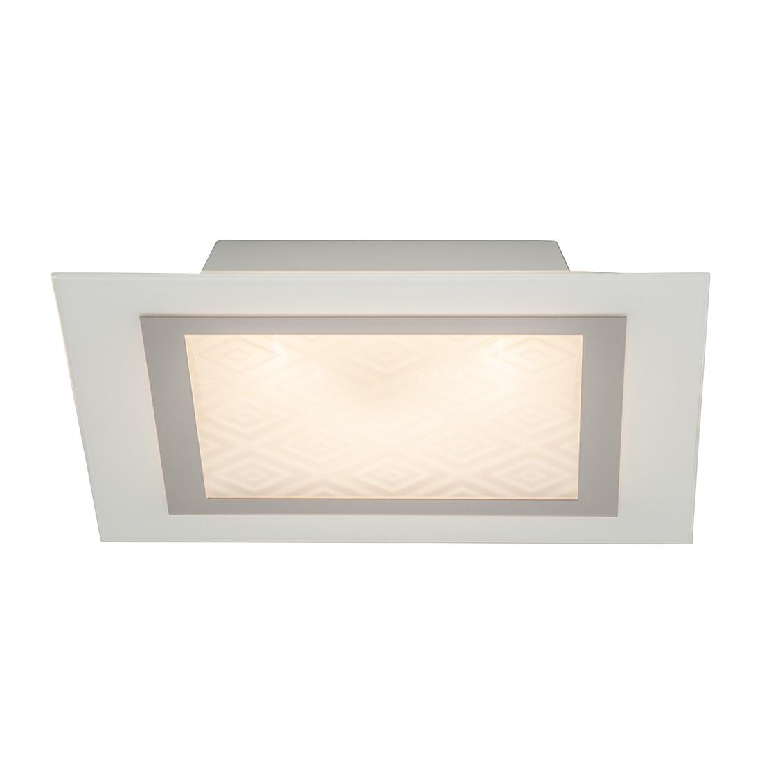 energie  A+, Plafondlamp Rolanda - zilverkleurig metaal 1 lichtbron, Brilliant