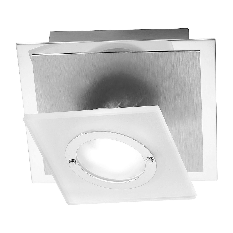 energie  A++, Plafondlamp Rotator - aluminium zilverkleurig 1 lichtbron, Paul Neuhaus