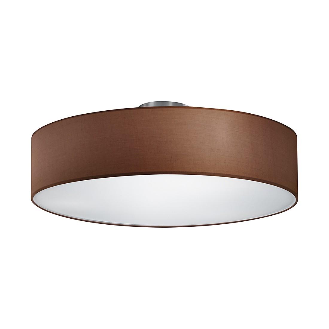 energie  A++, Plafondlamp - nikkelkleurig/bruin 3 lichtbronnen, Trio