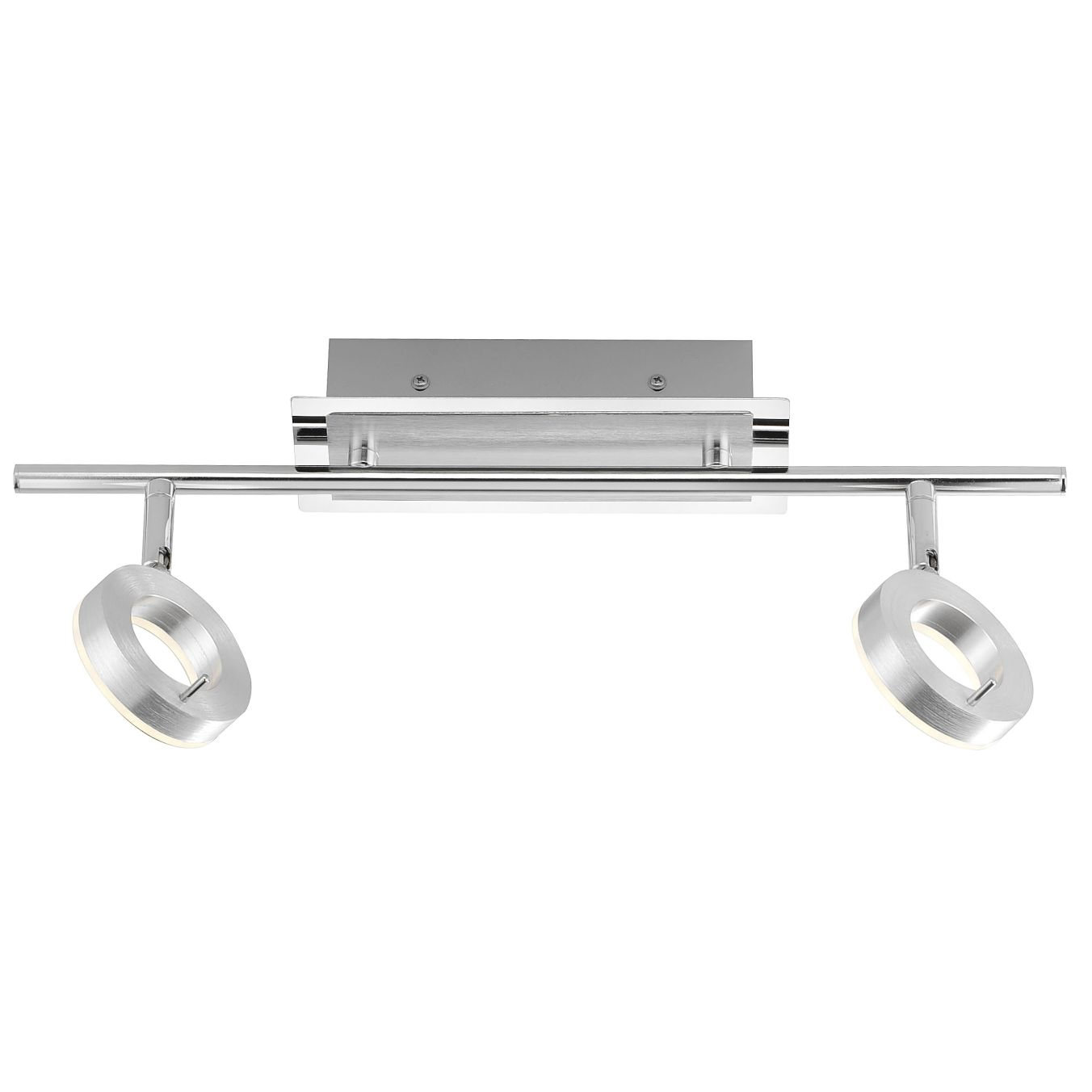 energie  A+, LED-plafondlamp Sileda I - ijzer - 2 lichtbronnen - Aluminiumkleurig, Paul Neuhaus