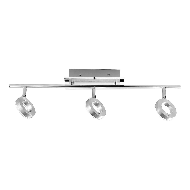 energie  A+, LED-plafondlamp Sileda II - ijzer - 3 lichtbronnen - Aluminiumkleurig, Paul Neuhaus