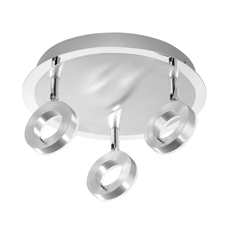 energie  A+, LED-plafondlamp Sileda III - ijzer - 2 lichtbronnen - Aluminiumkleurig, Paul Neuhaus