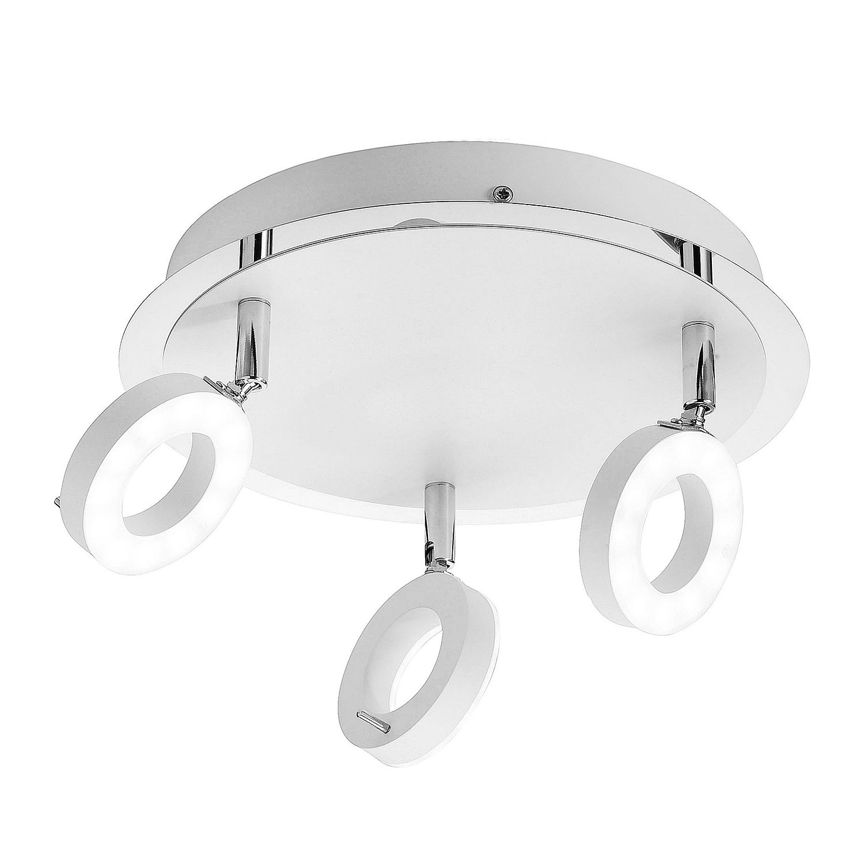 energie  A+, LED-plafondlamp Sileda III - ijzer - 2 lichtbronnen - Wit, Paul Neuhaus