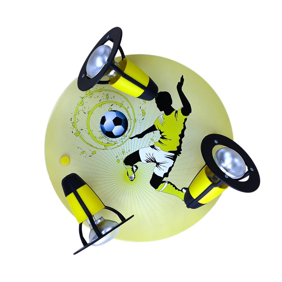 energie  A++, Plafondlamp Voetbal - hout 3 lichtbronnen, Elobra