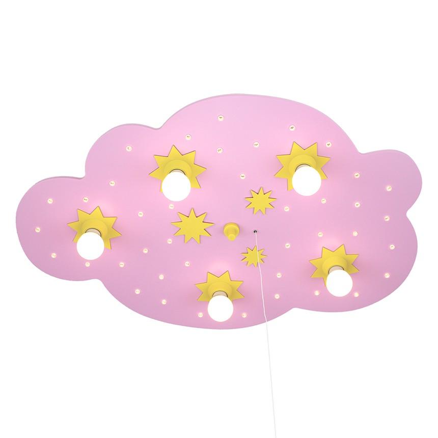 Home 24 - Eek a+, plafonnier nuage d étoiles 5 / 40 - bois ampoules, elobra