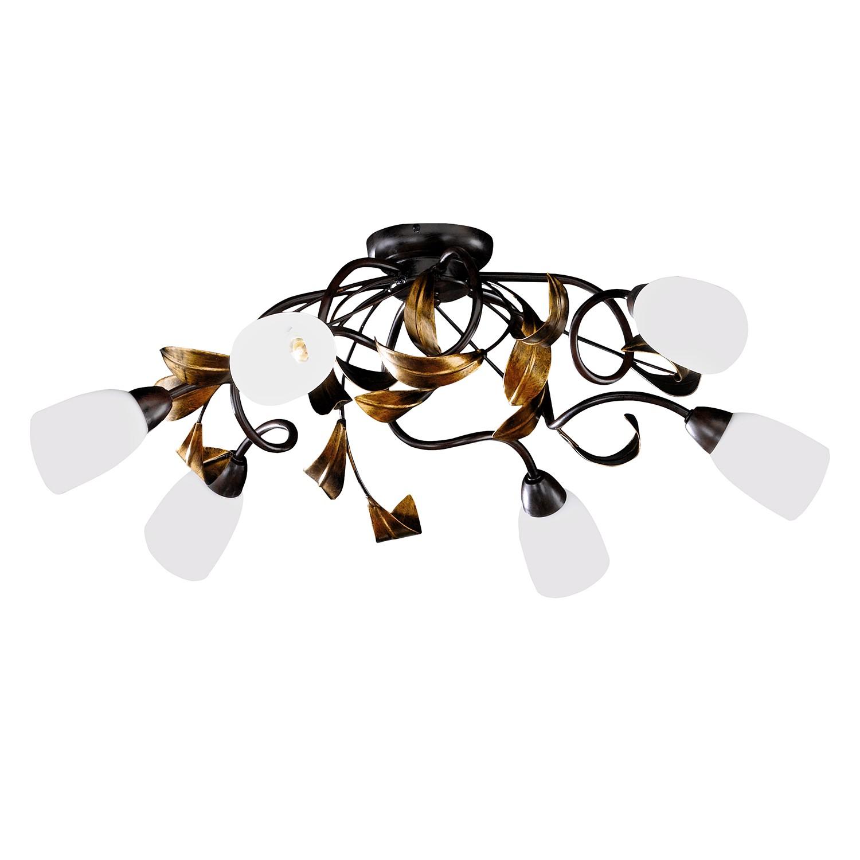 EEK A++, Deckenleuchte Supra 6-flammig - Braun Metall, Honsel