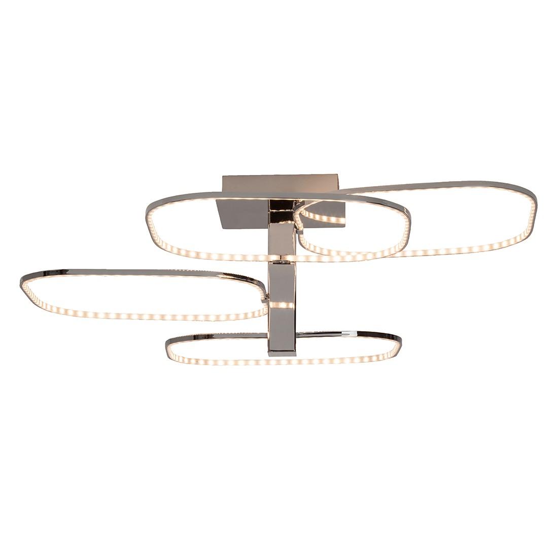 Image of energia A+, Lampada da soffitto Topic - Metallo/Materiale sintetico Color argento 1 luce, Brilliant