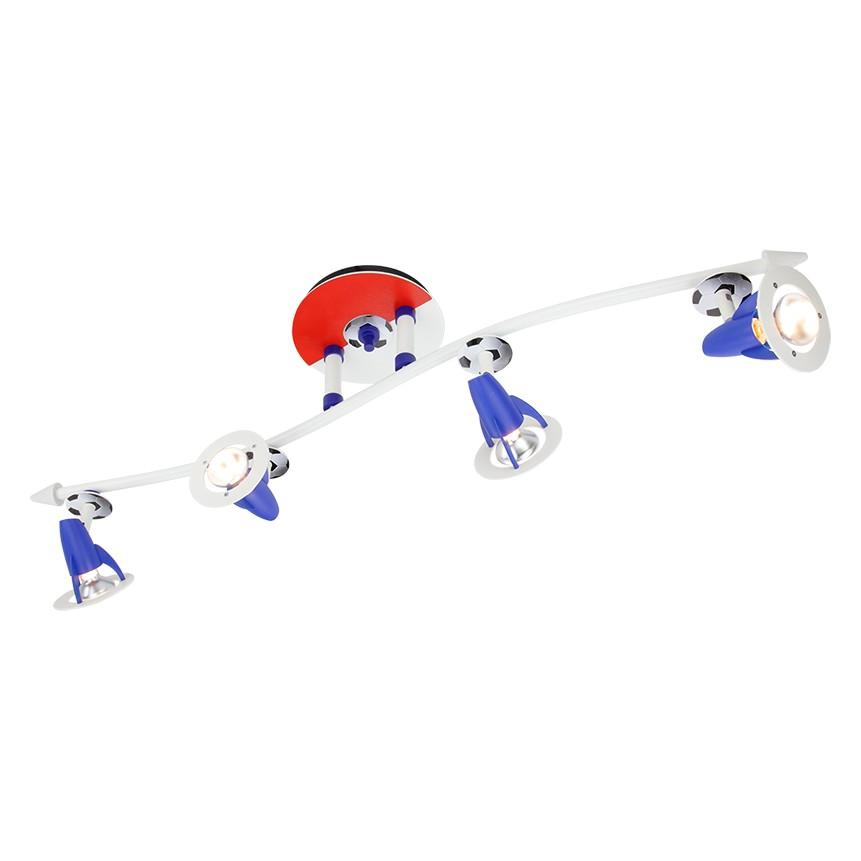 energie  A++_ Plafondlamp Golf van voetbal   hout 4 lichtbronnen_ Elobra