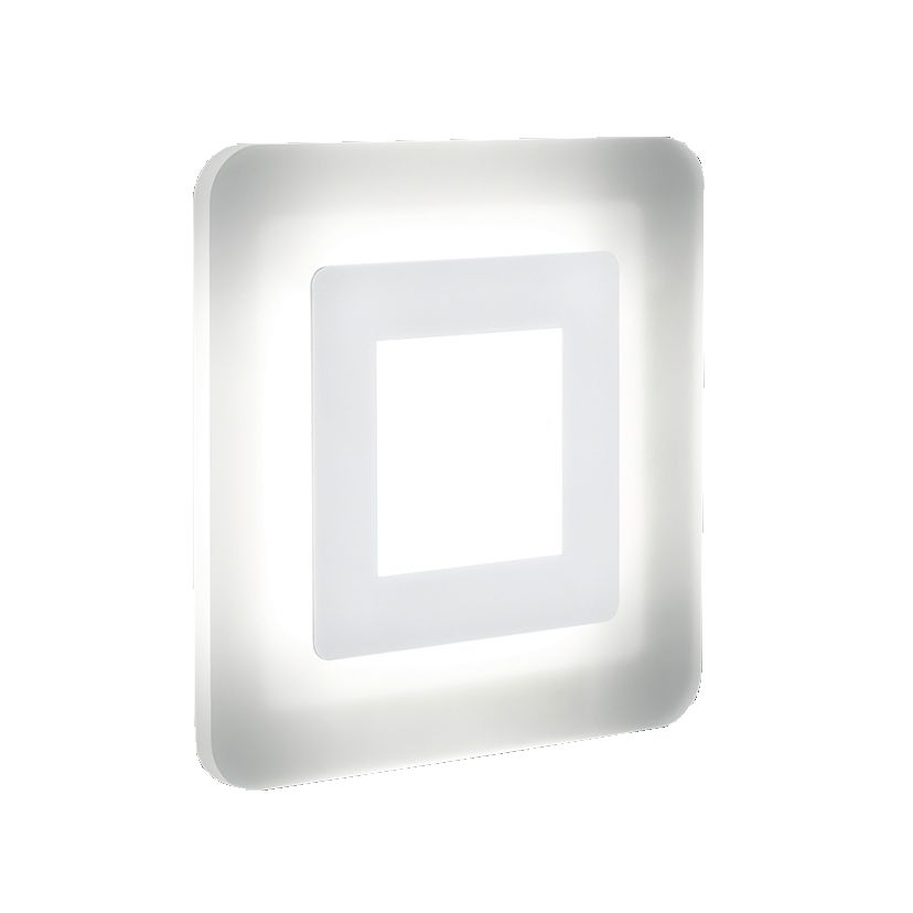 energie  A+, Plafondlamp WES - metaal/wit kunststof, Helestra