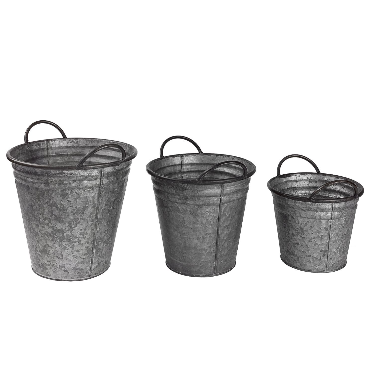 Home 24 - Seau décoratif ahorn (set de 3) - zinc - gris, wittkemper living