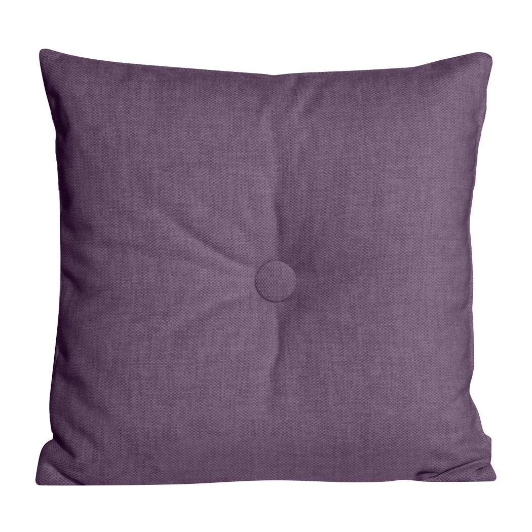 Dekokissen Omnia I (2er-Set) - Webstoff - 48 x 48 cm - Stoff Anda II Violett