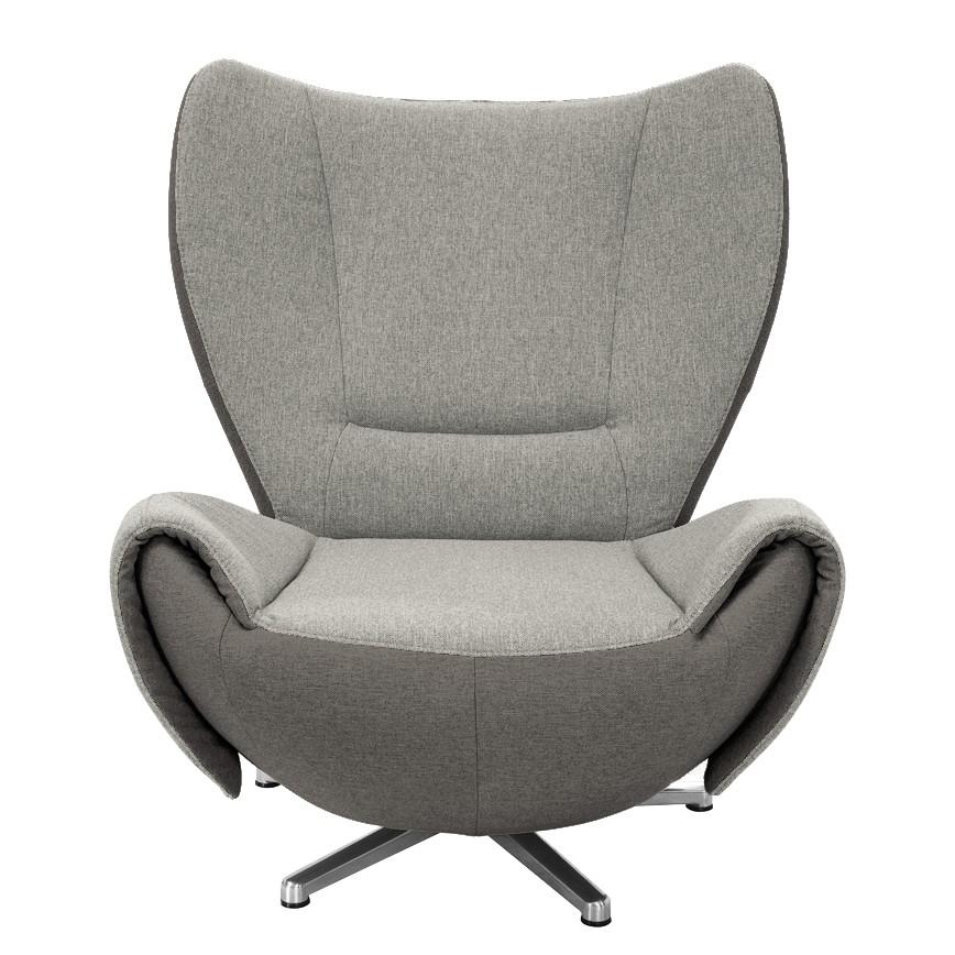 Home 24 - Fauteuil design tom - tissu jaune moutarde / gris marron - gris / marron, tom tailor