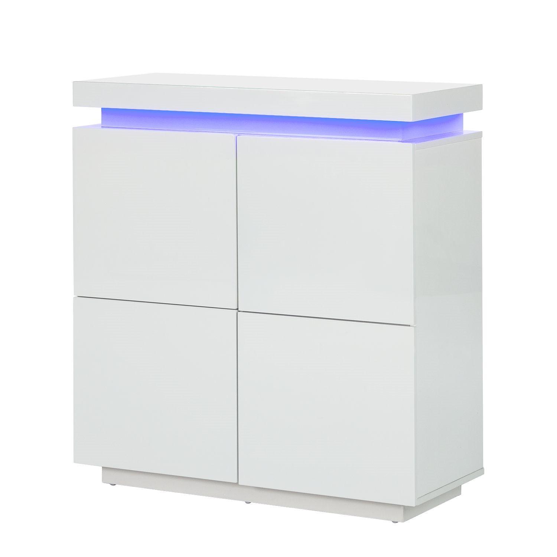 energia A+, Cassettiera Emblaze (illuminazione incl.) - bianco lucido, Fredriks