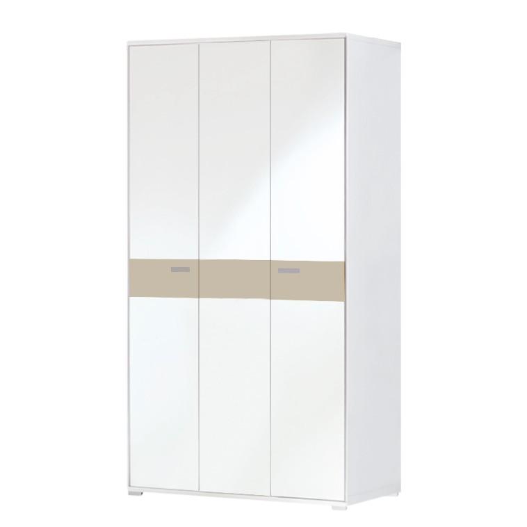 Home 24 - Armoire de vestibule bolton ii - blanc / sable, voss