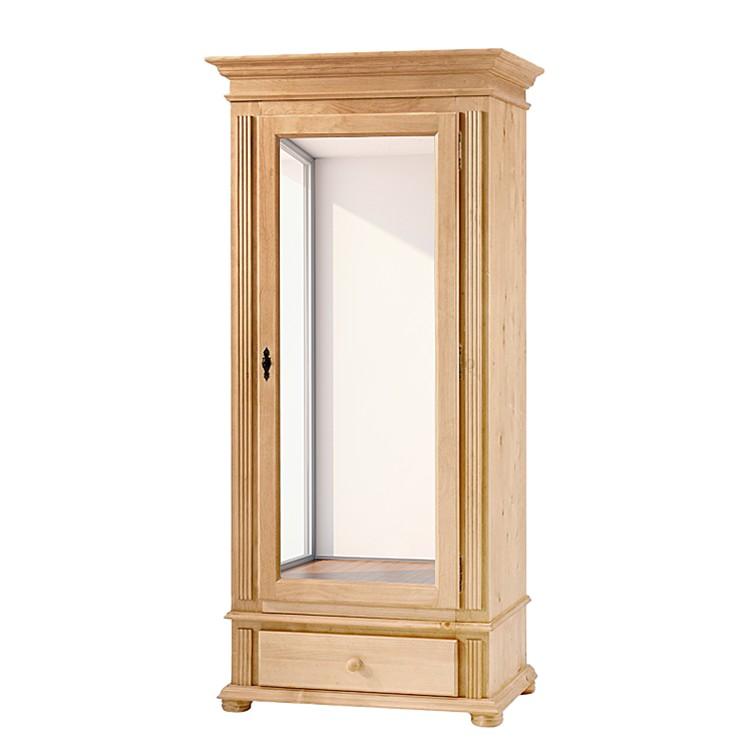 Armoire de vestibule I Friedrich - Pin massif lessivé - avec 1 porte miroir, Maison Belfort