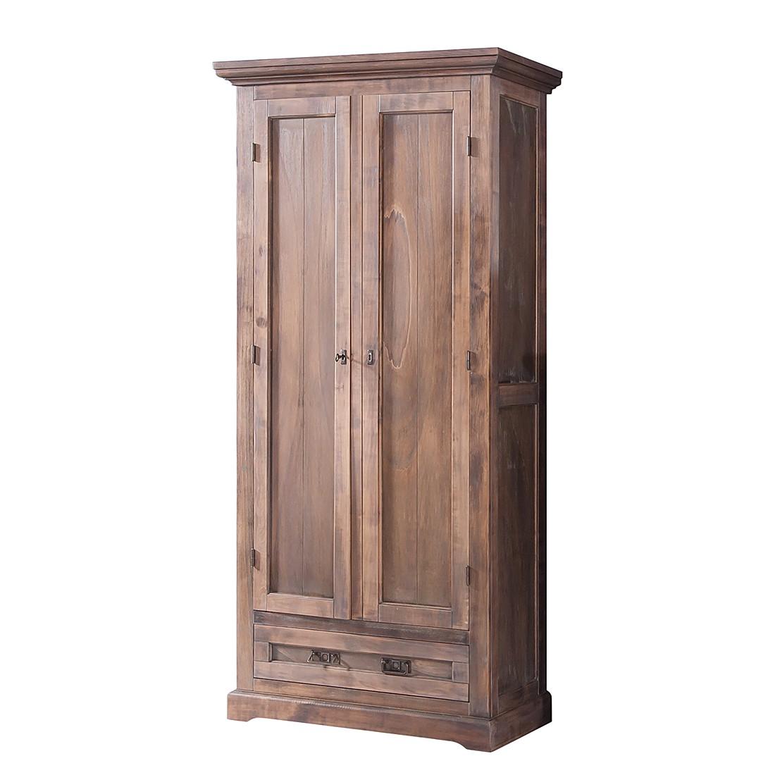Armadio da ingresso Kennet I - Parzialmente in legno massello di tiglio spazzolato/trattato con calce, Ridgevalley