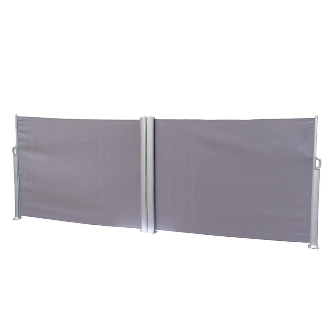 Dubbele zijluifel Rush - aluminium/polyester antracietkleurig, Leco