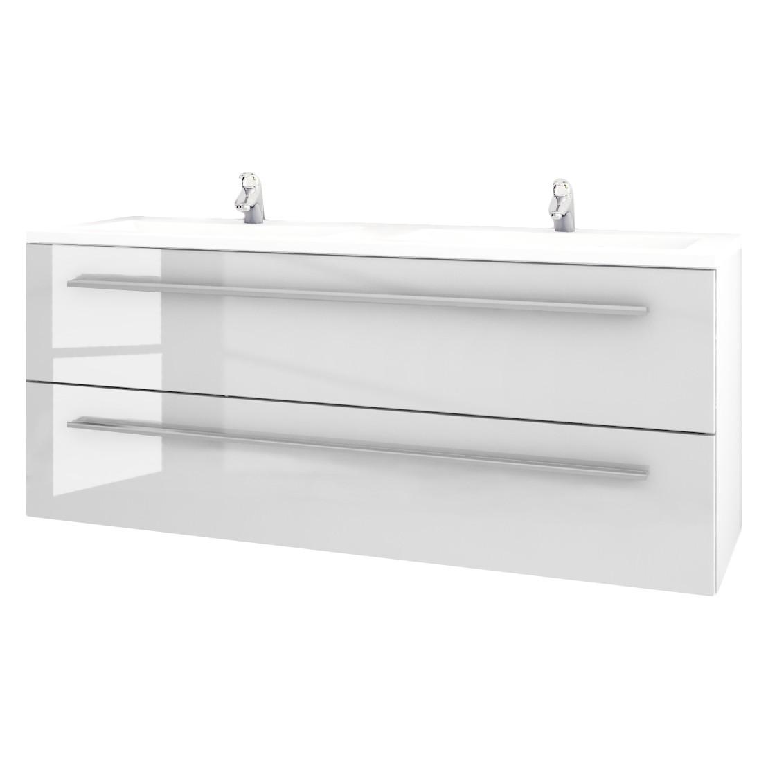 Home 24 - Double lavabo lagarto - blanc - 120 cm, sieper
