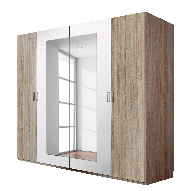 Armoire à portes battantes Alina - Imitation chêne brut de sciage, Wimex