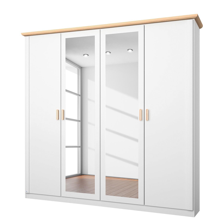 Armoire à portes battantes Annett II - Blanc alpin / Frêne de Coimbra - 181 cm (4 portes), Rauch Pac
