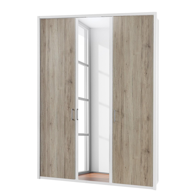 Eek a armoire portes battantes arizona sleep blanc alpin imitation - Armoire 150 cm ...