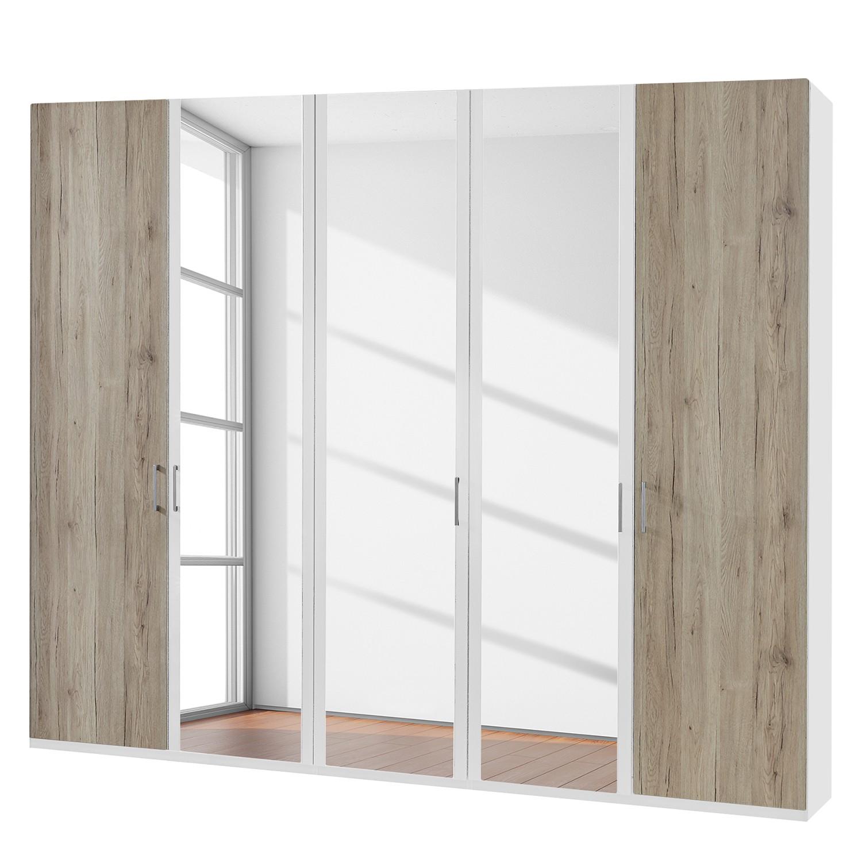 armoire portes battantes arizona sleep blanc alpin imitation ch ne du. Black Bedroom Furniture Sets. Home Design Ideas