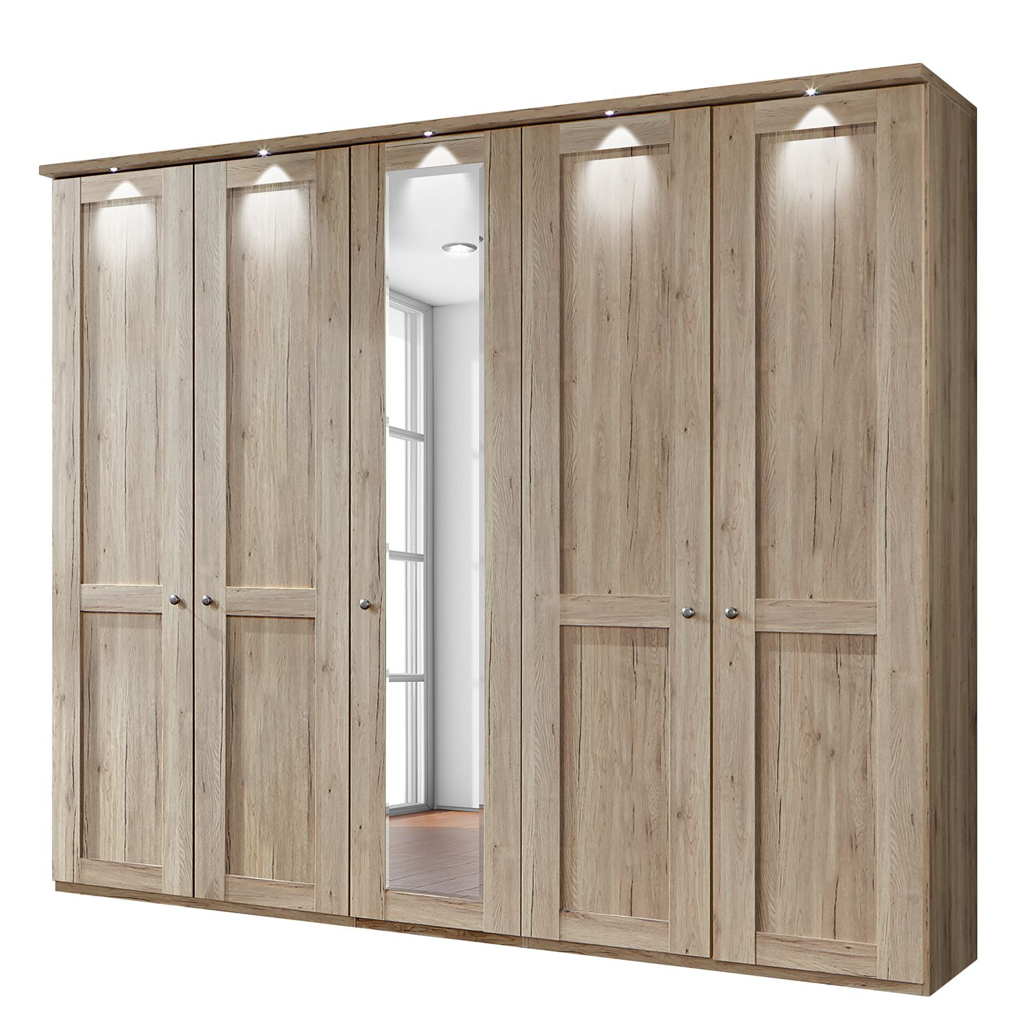 eek a armoire portes battantes bergamo eclairage led imitation. Black Bedroom Furniture Sets. Home Design Ideas