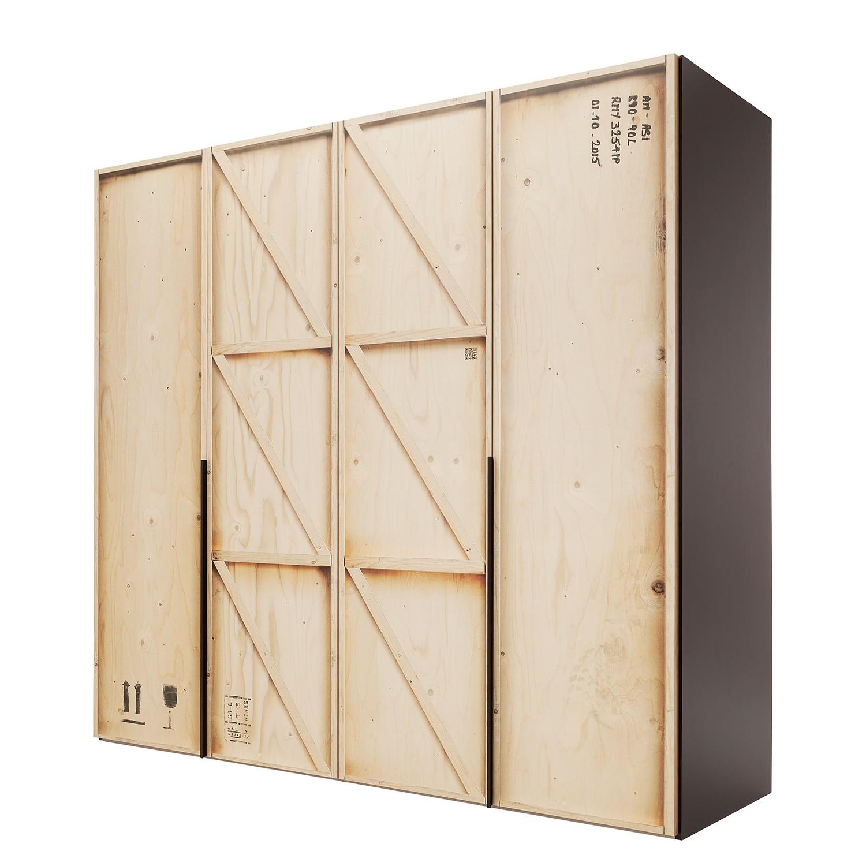 Armoire à portes battantes Caja - Beige / Noir, Express Möbel