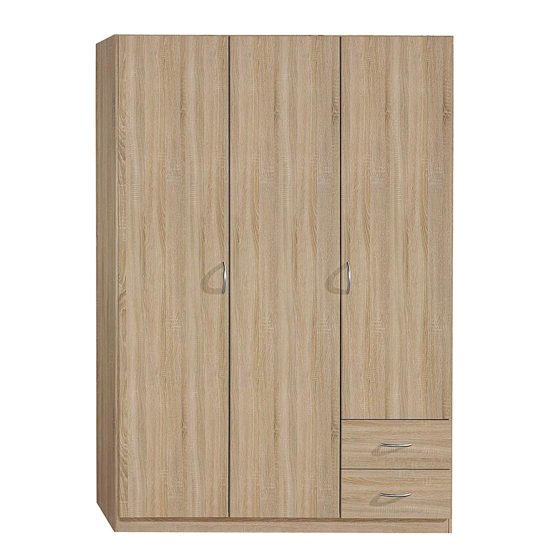 Armoire à portes battantes Case II - Imitation chêne de Sonoma - 91 cm - 2 portes - Standard Plus, R