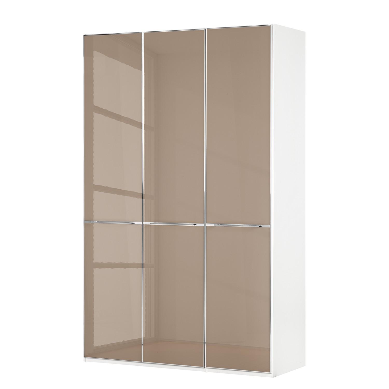 Draaideurkast Chicago I - Alpinewit/saharakleurig glas - 150cm (3-deurs) - 236cm, Wiemann