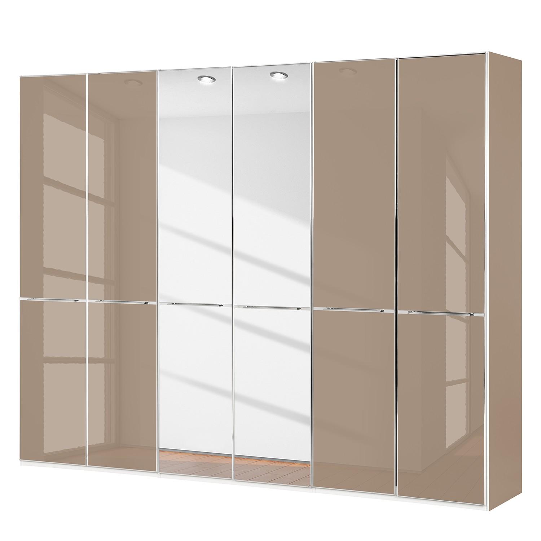 Draaideurkast Chicago II - Sahara/spiegelglas - 300cm (6-deurs) - 236cm, Althoff