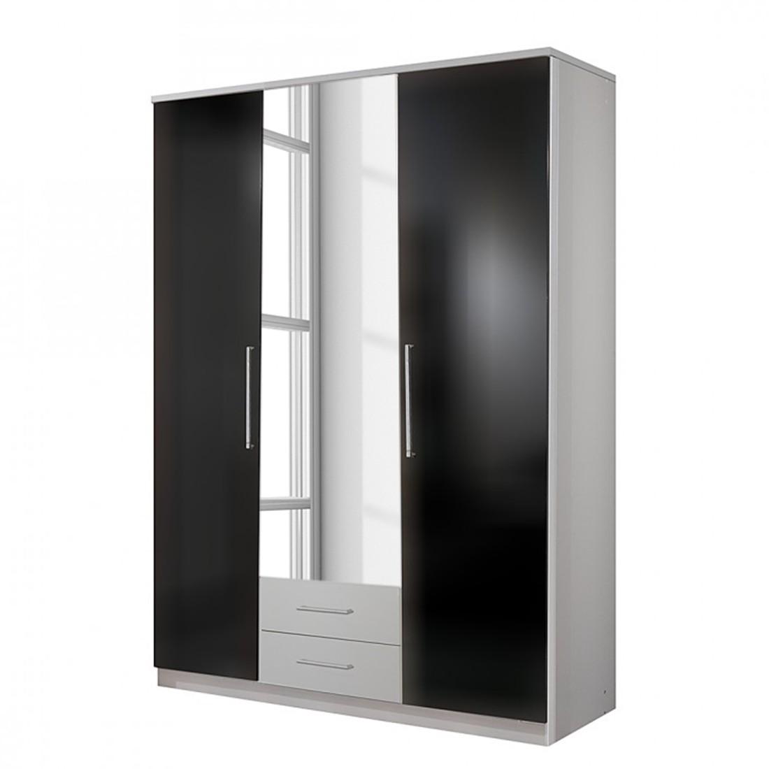 scrapeo blocs portes kallax x 4 brun noir. Black Bedroom Furniture Sets. Home Design Ideas
