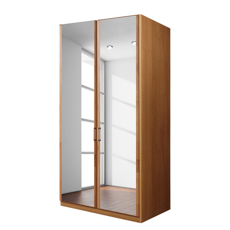 Draaideurkast Florenz - deels massief elzenhout - 100cm (2-deurs) - 2 spiegeldeuren - Zonder Passe-partout lijst, Wiemann
