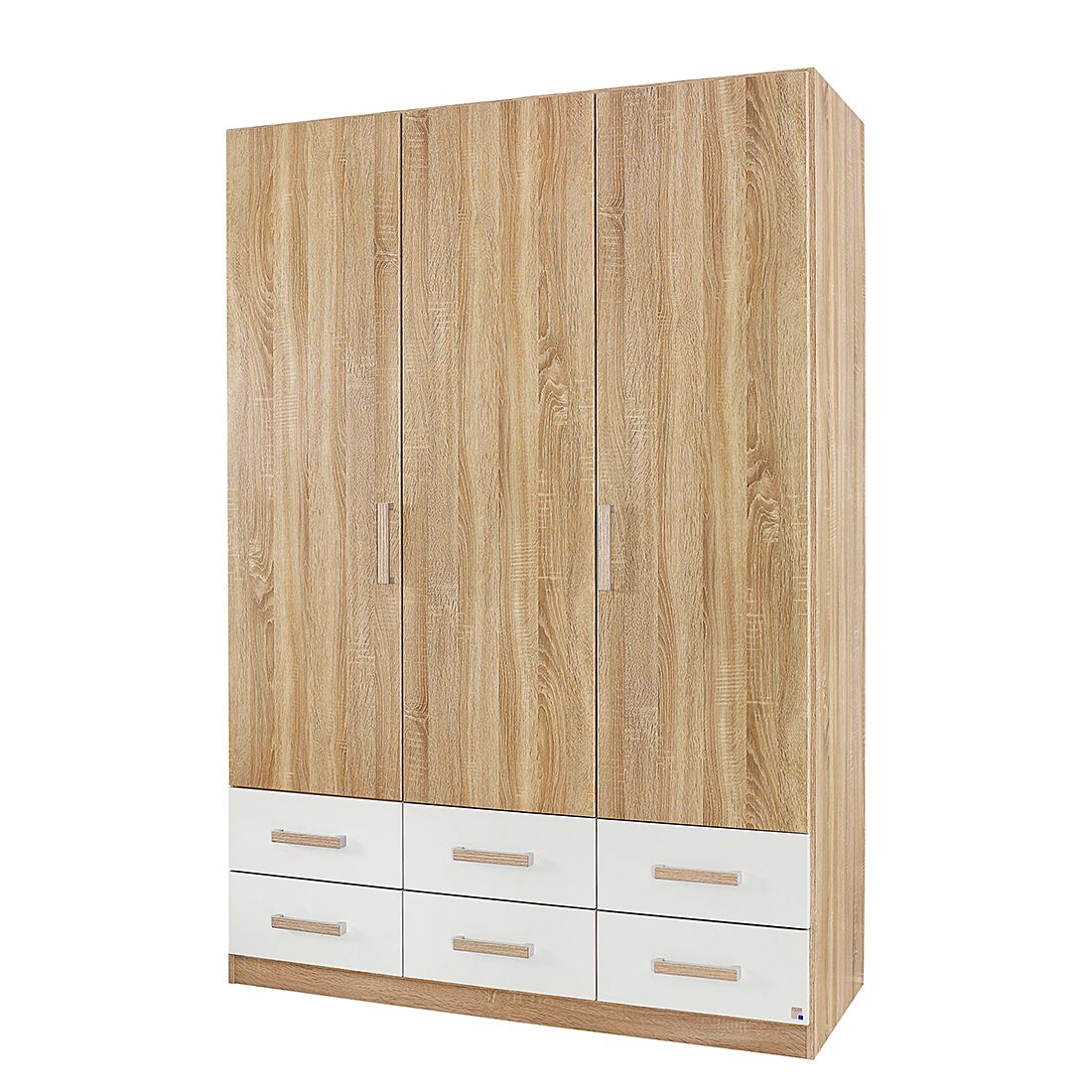 Armoire à portes battantes Samira - Imitation chêne / Blanc alpin - 91 cm - 2 portes, Rauch Packs