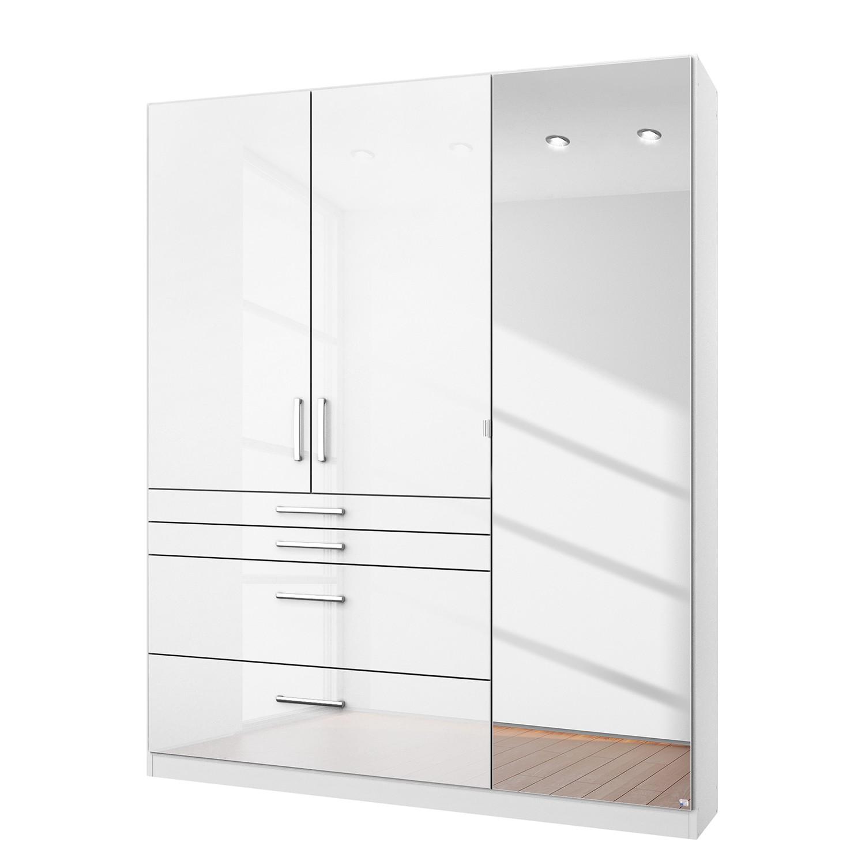 Draaideurkast Homburg I - Hoogglans alpinewit - 136cm (3-deurs) - Met spiegeldeuren, Rauch Packs