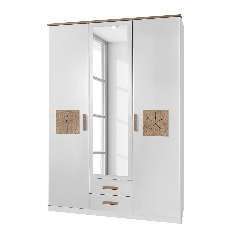Armoire à portes battantesKärnten - Blanc alpin - 135 cm (3 portes) - 2 tiroirs, Wimex