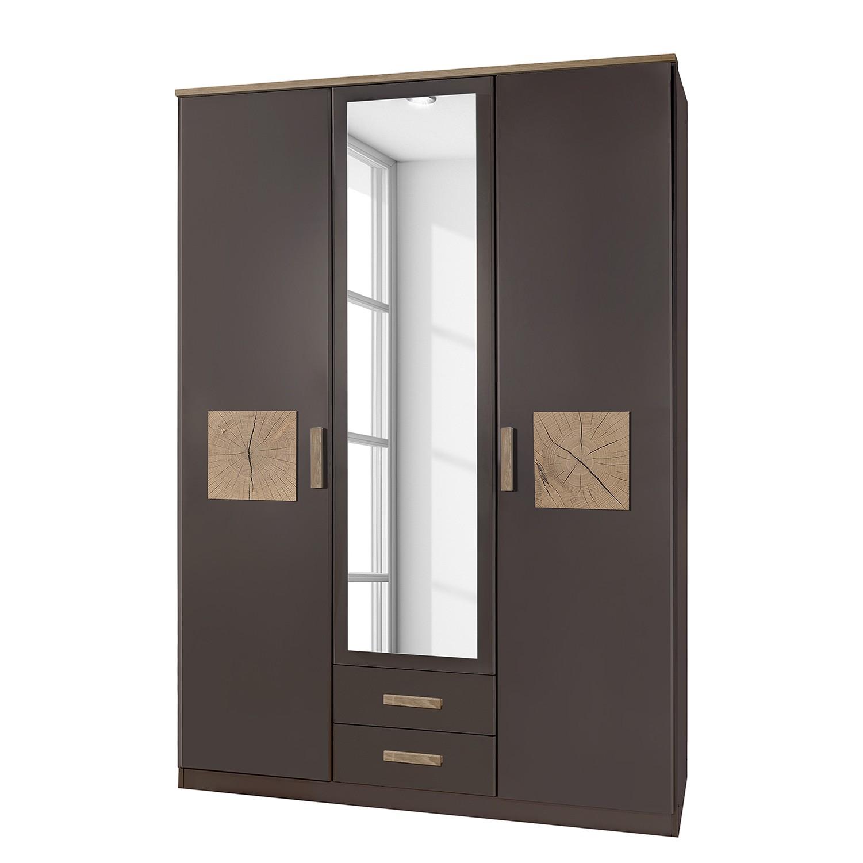 Armoire à portes battantesKärnten - Gris lava - 135 cm (3 portes) - 2 tiroirs, Wimex