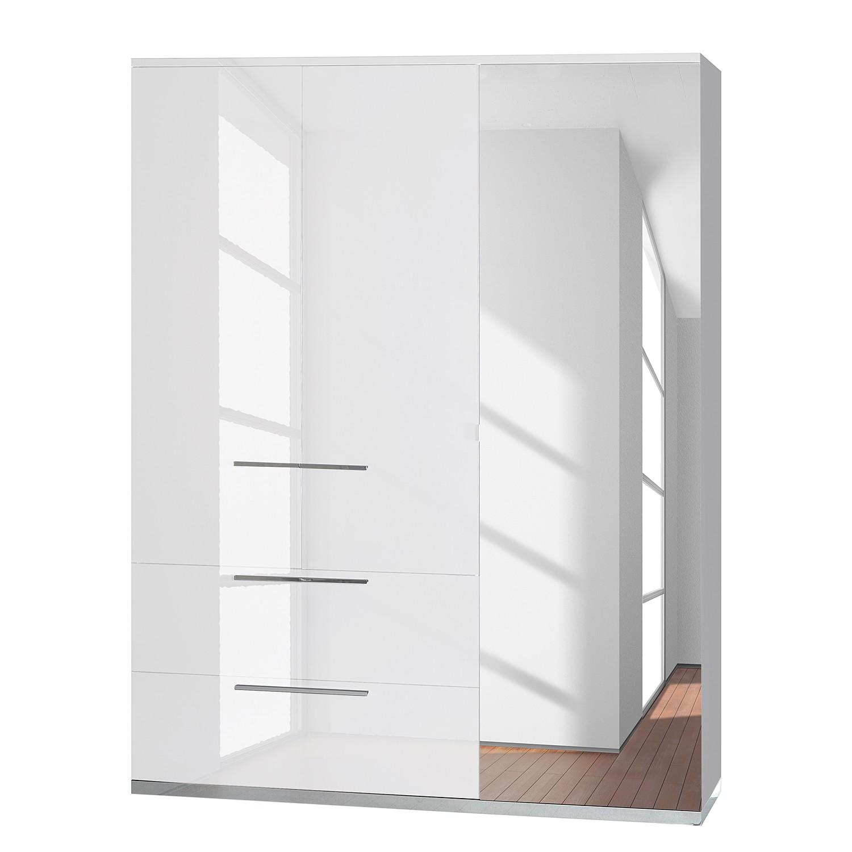 Armoire à portes battantes Kröslin - Blanc - 162 cm (3 portes), Sciae