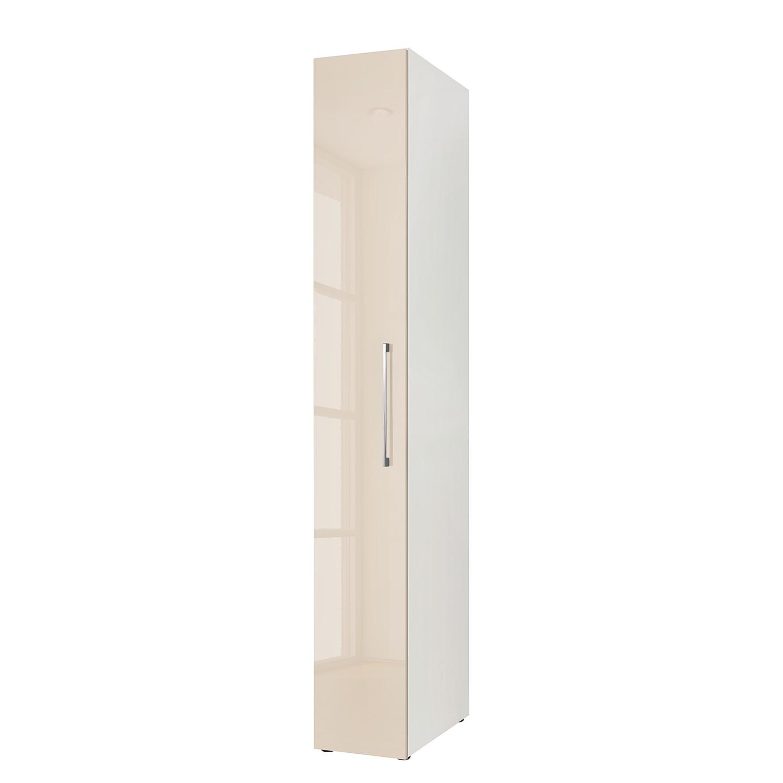 Armoire à portes battantes KSW I - Couleur latte macchiato brillante - 30 cm (1 portes), Wellemöbel