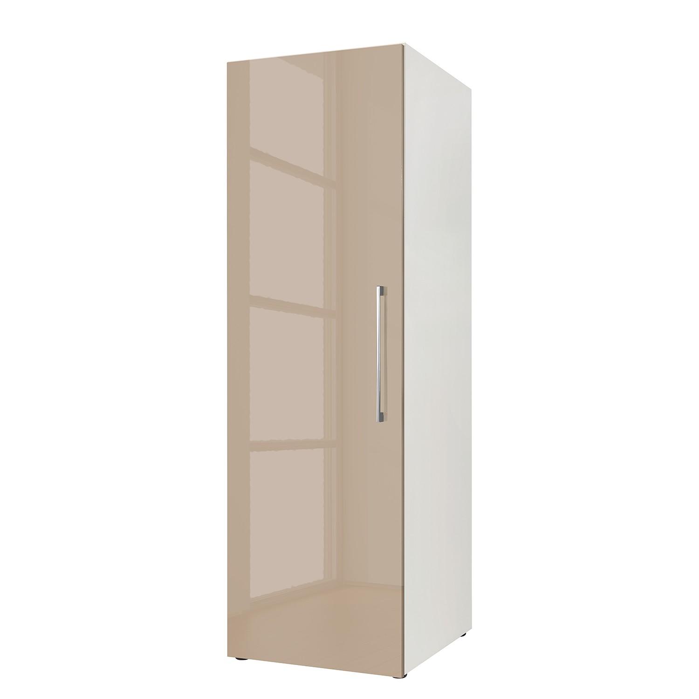 Armoire à portes battantes KSW III - Gris brillant sablé - 144 cm, Wellemöbel