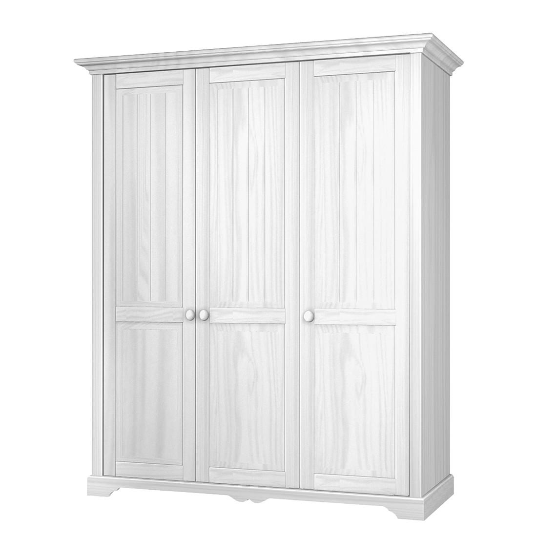 Drehtürenschrank La Coquette - Kiefer teilmassiv - Weiß - 171 cm (3-türig), Landhaus Classic