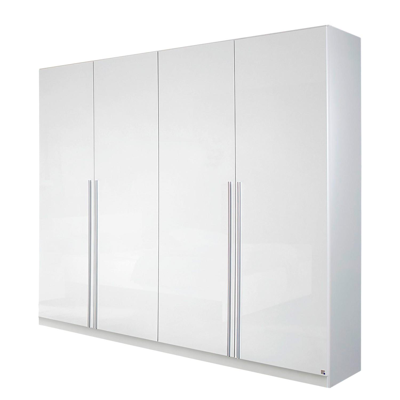 Armoire à portes battantes Lorca - Blanc alpin / Blanc brillant - 181 cm (4 portes), Rauch Packs