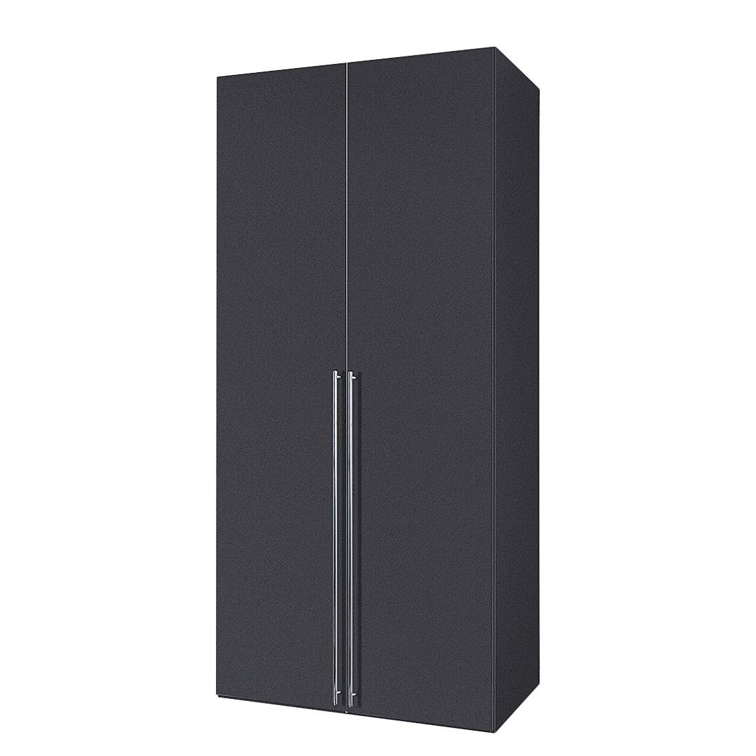 Armoire à portes battantes Brooklyn V - Gris graphite - 100 cm (2 portes) - 216 cm, Express Möbel