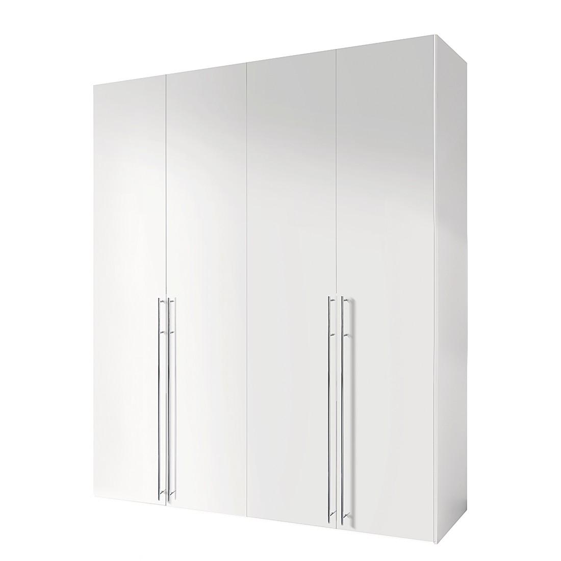 Draaideurkast Melva - polarwit - 200x216cm - 4-deurs, Express Möbel