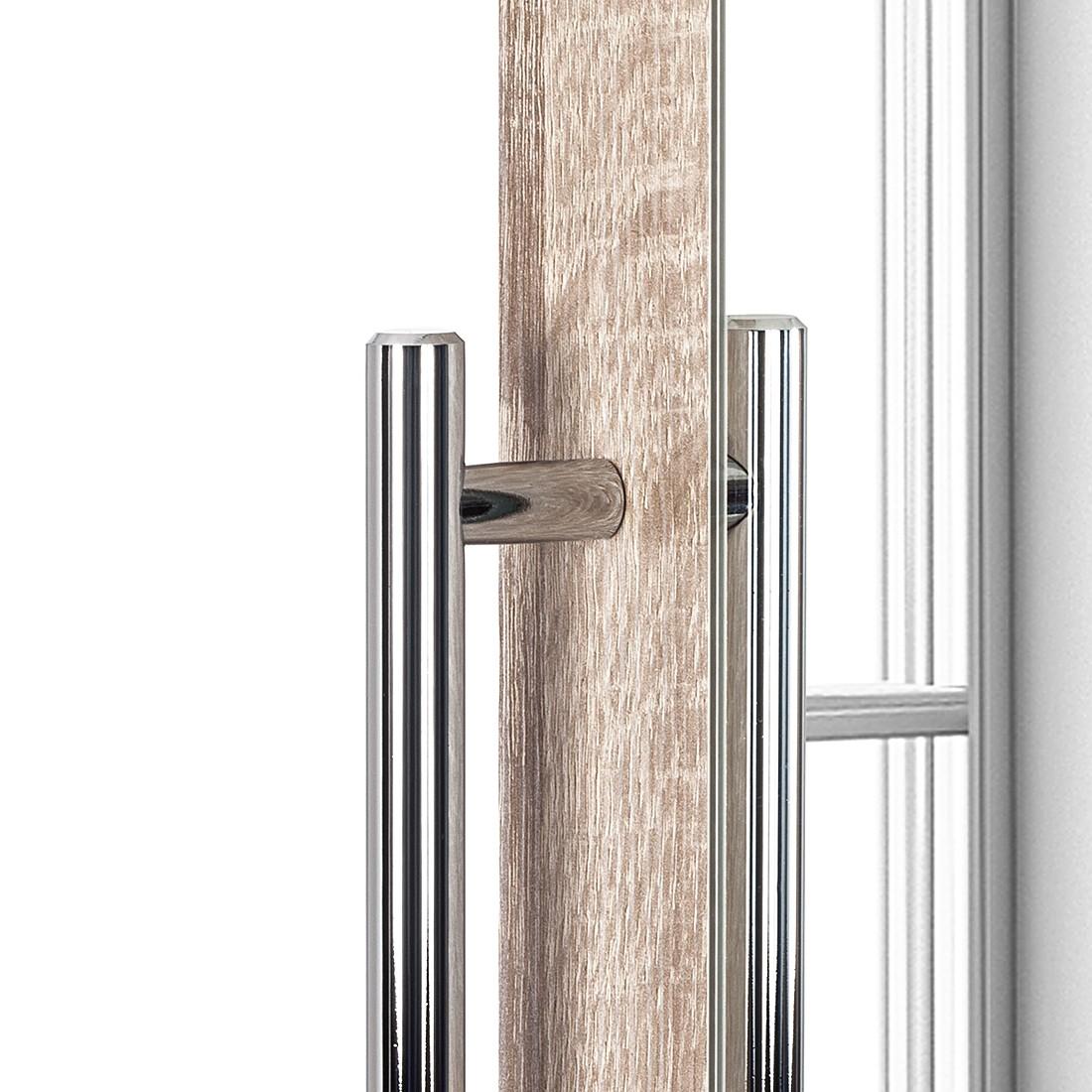 Armoire à portes battantes Brooklyn VI - Imitation chêne de Sonoma / Miroir - 100 cm (2 portes) - 21